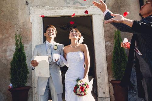 Matrimonio giapponese a Roma